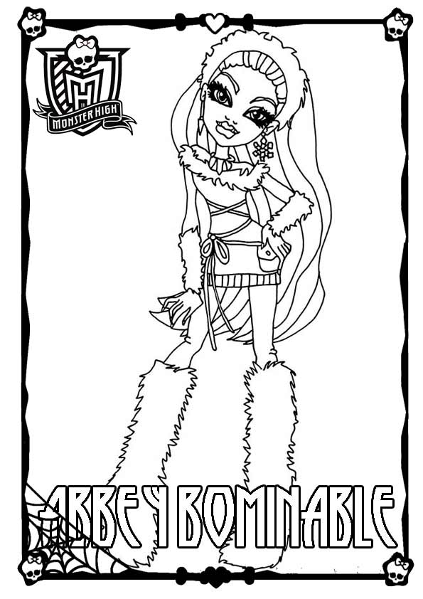 Monster High 02 zum ausmalen Abbey Bominable