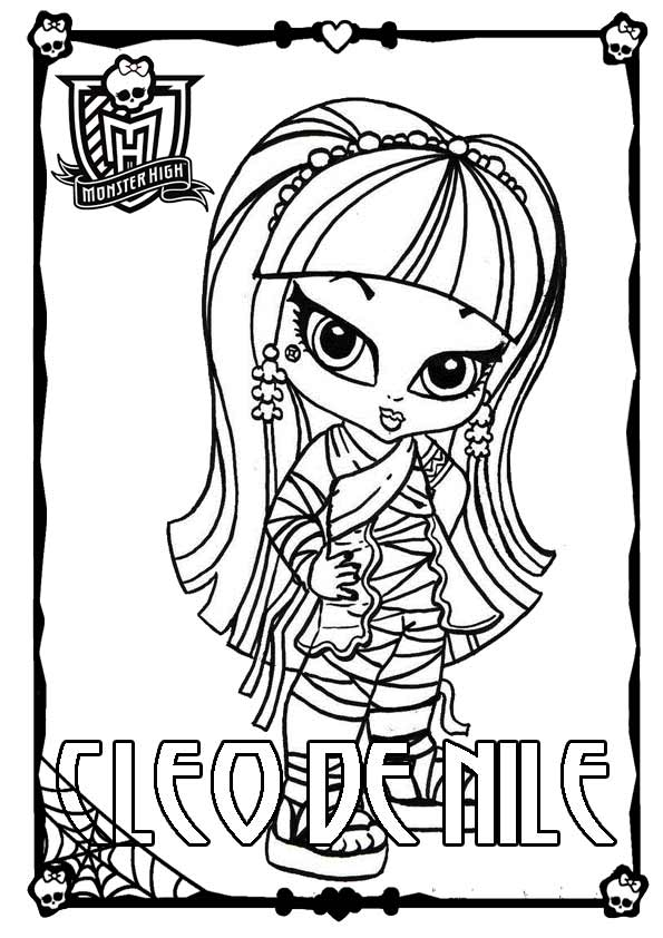 Monster High 05 zu malen Cleo de Nile