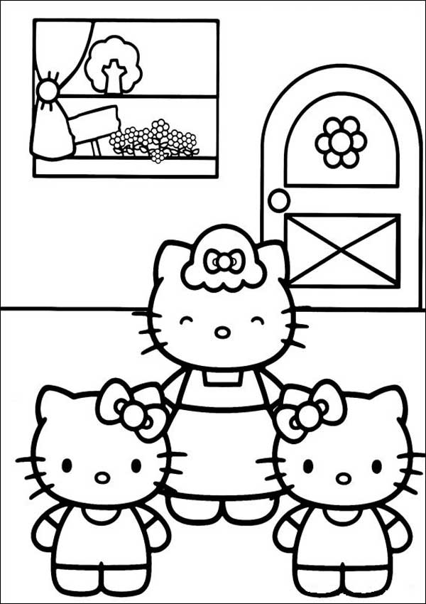 Malvorlagen von Hello Kitty 10
