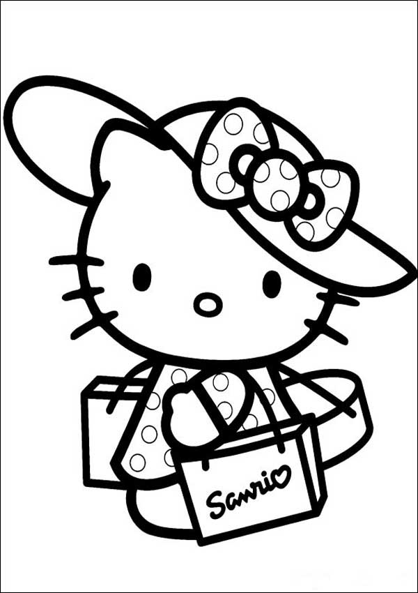 Hello Kitty 18 zum ausmalen