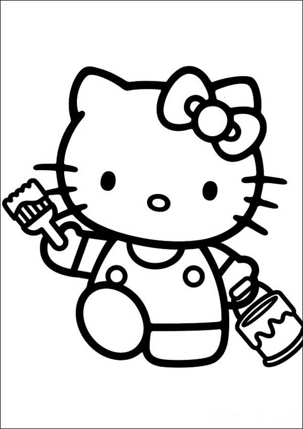 Hello Kitty 22 zum ausmalen