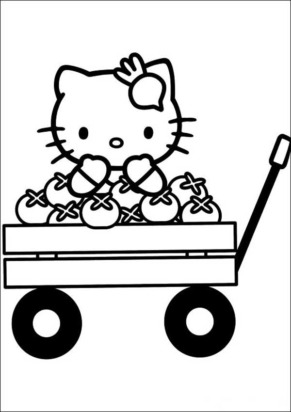Hello Kitty 24 zum ausmalen