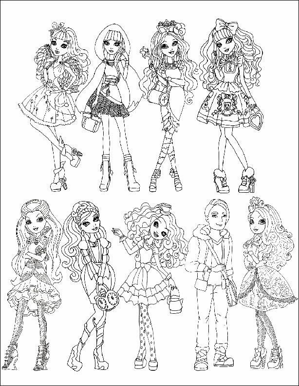 Ever After High 01 zum ausmalen