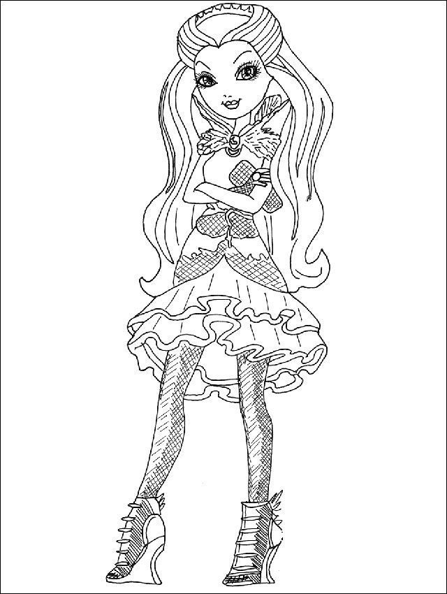 Ever After High 04 zum ausmalen Raven Queen