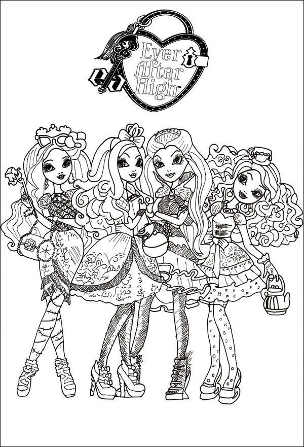 Ever After High 06 zu malen
