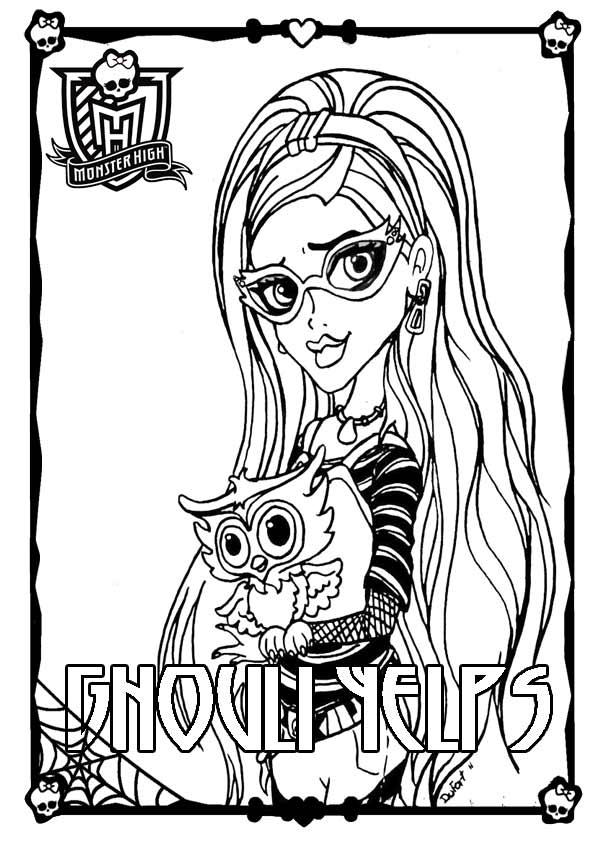 Monster High Ghoulia Yelps zum drucken