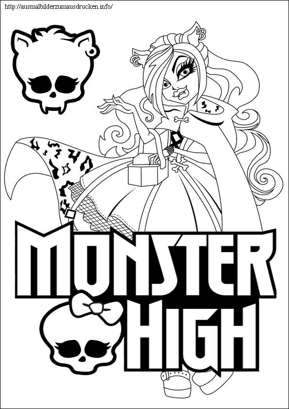 Monster High 12 Clawdeen Wolf zu malen
