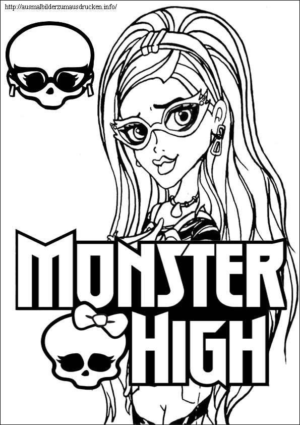 Monster High 14 Ghoulia malvorlagen