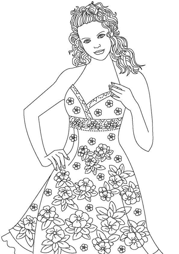 setcard top models coloring pages - photo#27