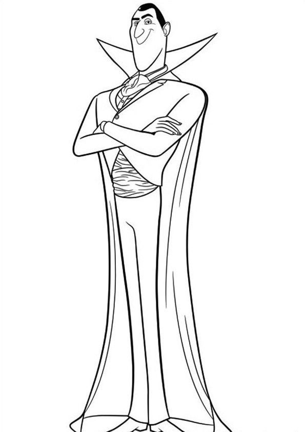 Dracula Minion Coloring Pages