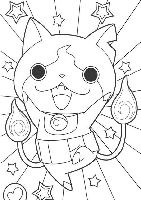 Yokai Watch zum ausmalen